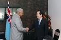Le président parlementaire et le PM fidjien