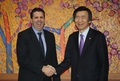 U.S. envoy bids farewell to S. Korean foreign minister