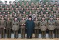 Kim Jong-un inspecte une unité militaire