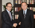 Ban Ki-moon et Lee Myung-bak