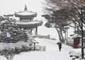 Marcher sous la neige
