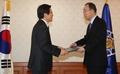 Le président par intérim et Ban Ki-moon