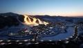 Vue nocturne de l'Alpensia Resort