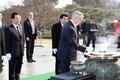 Mattis presenta sus respetos en el Cementerio Nacional