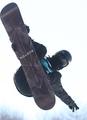 スノボW杯 スター選手がジャンプ