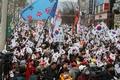 Manifestación en contra de la destitución de Park