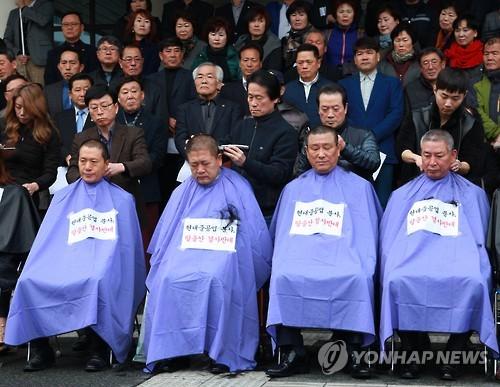 """""""현대중공업 분사 철회하라""""…울산 동구청장 '반대 삭발'"""