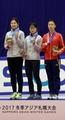Oro en patinaje de velocidad femenino en pista corta