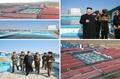 El líder norcoreano inspecciona una piscifactoría