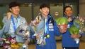 Alpine snowborder gold medalist homecoming