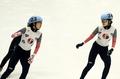 Oro y plata en 1.000 metros femeninos de patinaje de velocidad en pista corta