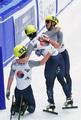 Corea del Sur arrasa en los 1.000 metros masculinos de patinaje de velocidad en pista corta