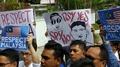 Des Malaisiens protestent contre la Corée du Nord