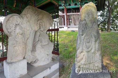 삼국 문화 융합된 '청주 비중리 삼존상 및 입상' 보물 됐다