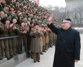 N.K. inspects headquarters of N. Korean army's combined unit