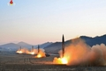 N.K. releases photos on ballistic missile launches