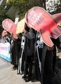 Manifestación en contra del THAAD