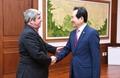 El presidente parlamentario y el embajador de Argentina