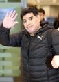 Maradona de visita en Corea del Sur