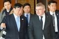 Le président du CIO en Corée