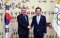 Le président parlementaire avec le chef du CIO