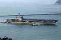 Le porte-avions USS Carl Vinson à Busan