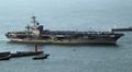 米原子力空母が釜山入港