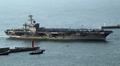 El portaaviones USS Carl Vinson en Busan