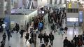 Menos gente en el aeropuerto