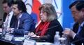 Conférence de presse de la Commission de coordination du CIO