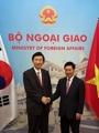 Los cancilleres de Corea del Sur y Vietnam en Hanói