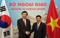 Chefs des diplomaties coréenne et vietnamienne