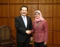 Présidents parlementaires Corée-Singapour