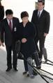 La expresidenta llega a la fiscalía