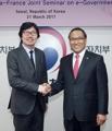 Ministres coréen et français