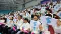 アイスホッケー北朝鮮代表を応援