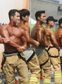 消防官たちの肉体美