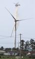 風力発電機から火災