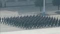 Desfile militar por el aniversario del nacimiento del difunto fundador