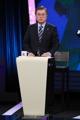 Moon Jae-in en el debate presidencial