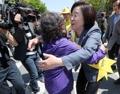 المرشحة الرئاسية عن حزب العدالة سيم سانغ جونغ