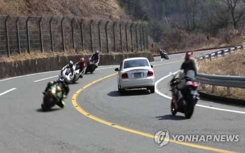 전국 오토바이 폭주족 출몰지 80곳…경기 지역 최다