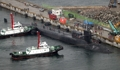 米原子力潜水艦「ミシガン」 釜山入港