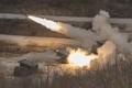 多連装ロケットシステムの砲撃訓練