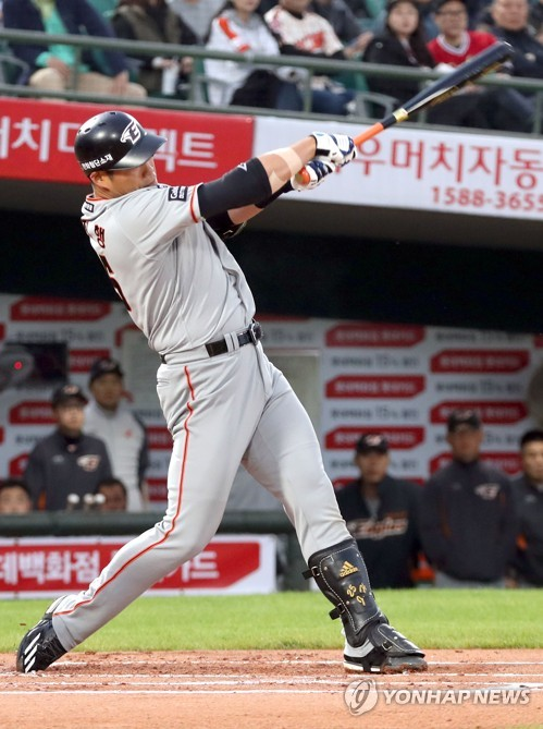 """'스리런포·결승타' 최진행 """"어떻게든 주자 불러들인다는 생각"""""""