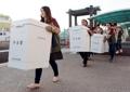 送大选投票箱去边远海岛