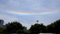 済州上空にまた「彩雲」