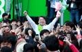 El candidato a presidente Ahn Cheol-soo
