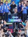 El candidato a presidente Moon Jae-in
