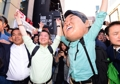 Ahn Cheol-soo en plena campaña electoral